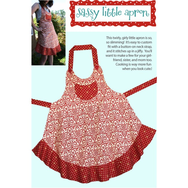 Sassy Little Apron Pattern Cabbage Rose Sewing