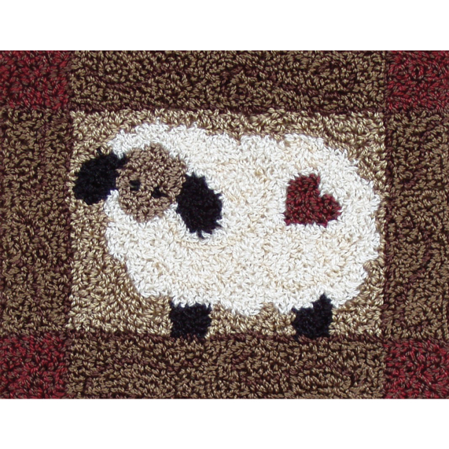 Wooly Sheep Punch Needle Kit Punch Needle Rug Kits At