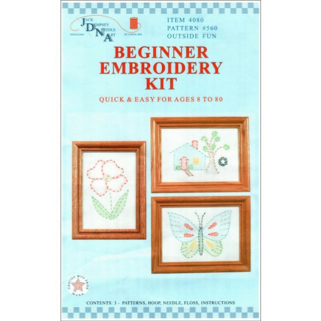 Outside fun beginner embroidery kit kids craft kits at