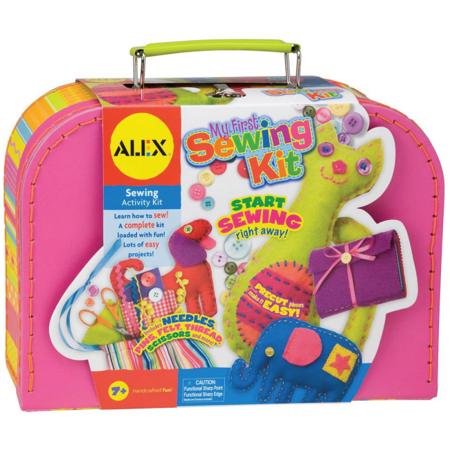 my first sewing kit for kids alex kids craft kits at. Black Bedroom Furniture Sets. Home Design Ideas