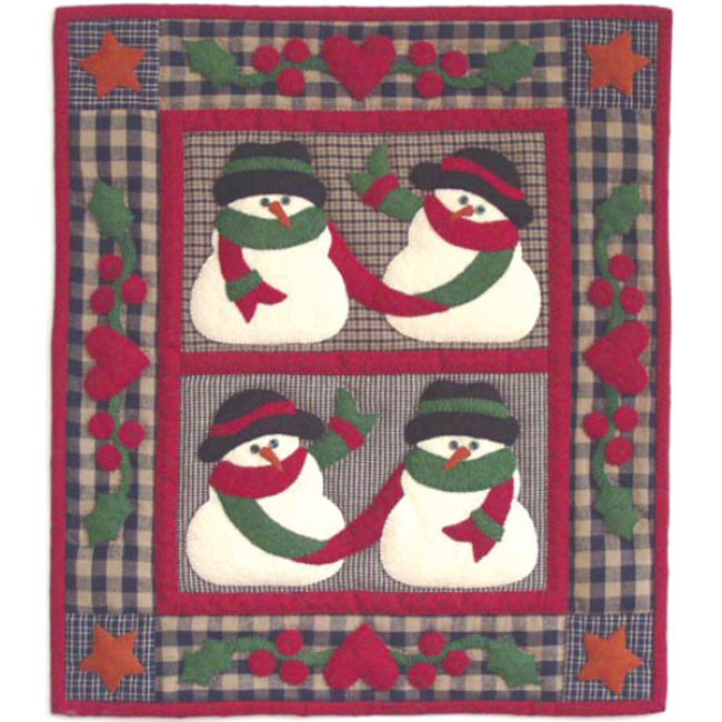 5abcc6d562c3 Snow Friends Wall Hanging Applique Quilt Kit - Christmas Quilt Kits at  Weekend Kits