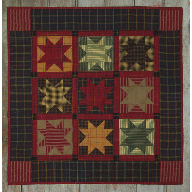 Quilt Patterns For Homespun Fabric : Homespun Stars Wall Quilt Kit - Complete Beginner Quilting Kits at Weekend Kits