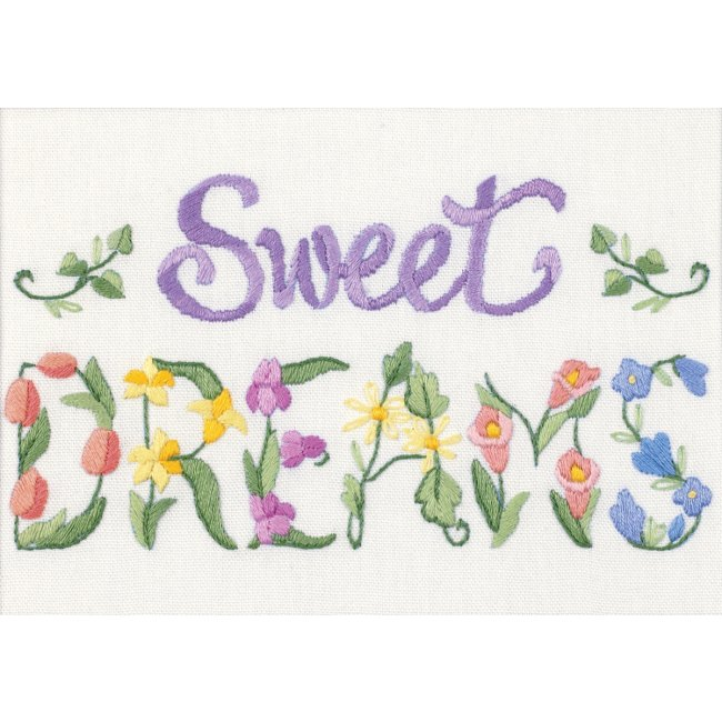 Flowery Sweet Dreams Crewel Embroidery Kit Embroidery