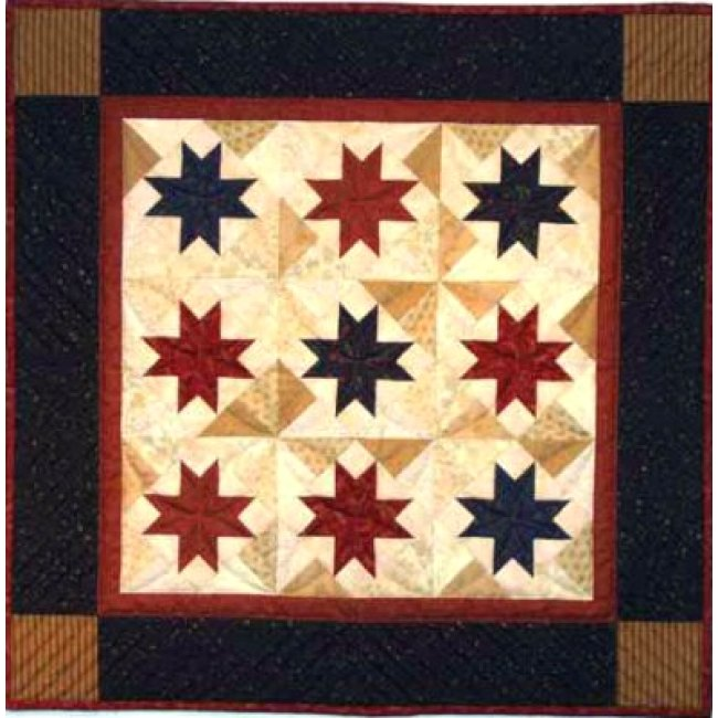 Scrap Stars Wall Quilt Kit - Complete Beginner Quilting Kits at ...
