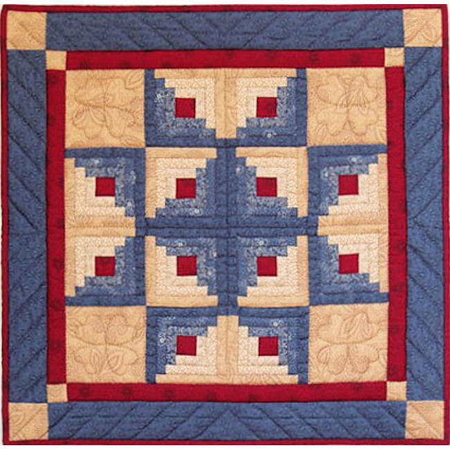 Log Cabin Star Quilt Kit Complete Quilting Kits For