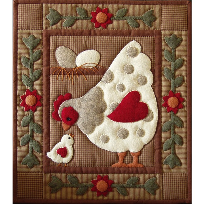 Spotty Hen Applique Quilt Kit Easy For Beginners Wall