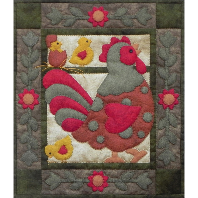 Spotty Rooster Wall Quilt Kit Applique Quilt Kits At
