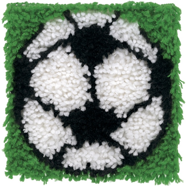 Soccer Ball Latch Hook Kit For Kids Caron Latch Hook Rug