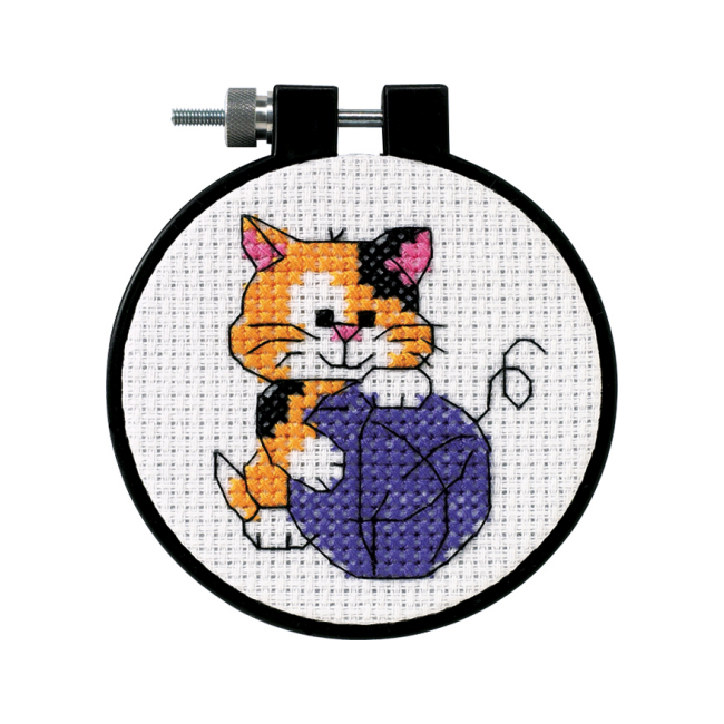 Cute Kitty Counted Cross Stitch Kit Beginner Craft Kits
