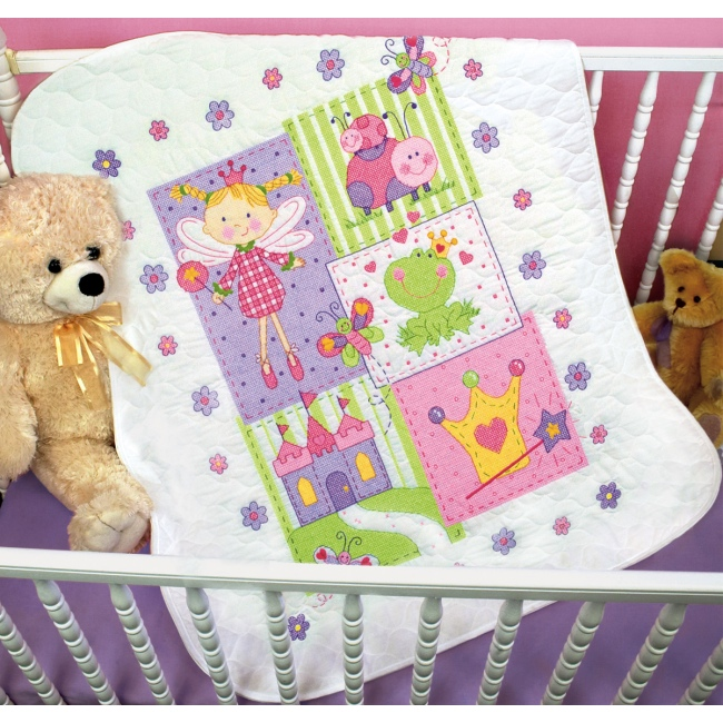 Fairy Baby Quilt Kit - St&ed Embroidery Quilt Kits at Weekend Kits : stamped embroidery quilt kits - Adamdwight.com
