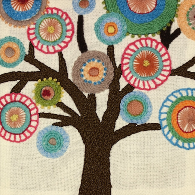 Tree crewel embroidery kit easy hand kits at