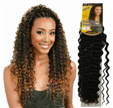 Bobbi Boss Dual Braid French Deep Braiding Hair Synthetic