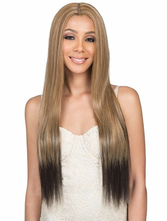 Bobbi Boss Lia Lace Front Wig Human Hair Blend