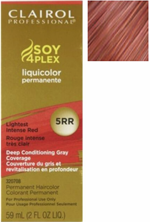 Clairol Professional Soy4Plex Permanent Haircolor 5RR Lightest Intense Red 2 oz 2019