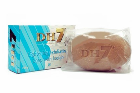 DH7 Lightening Exfoliating Soap with Loofah 8.75 oz