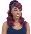 Model Model Ponytail and Swoop Side Bang Loose Curl Synthetic