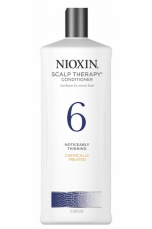 Nioxin 6 Scalp Therapy Conditioner Chemically Treated/Bleached Hair/Progressed Thinning 33.8 oz