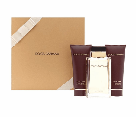 Dolce & Gabbana Pour Femme by Dolce & Gabbana for Women 3 Piece Fragrance Gift Set 2019