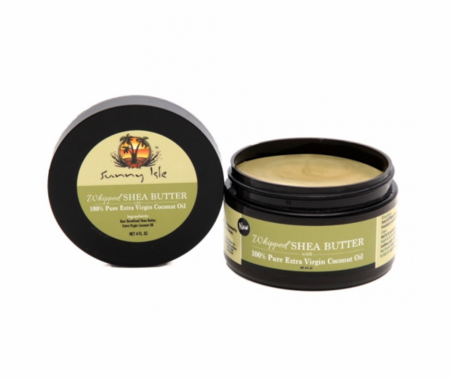 Sunny Isle Whipped Shea Butter infused with Extra Virgin Coconut Oil 4 oz