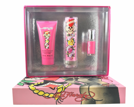 Ed Hardy by Ed Hardy for Women 3 piece Fragrance Gift Set 2018