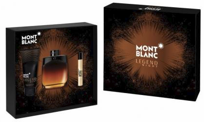 Legend Night by Montblanc for Men 3 Piece Fragrance Gift Set 2018