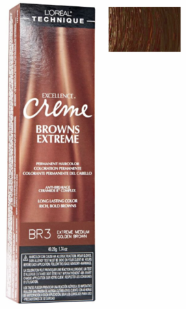 L'Oreal Excellence Creme Browns Extreme BR3 Extra Medium Golden Brown DISC