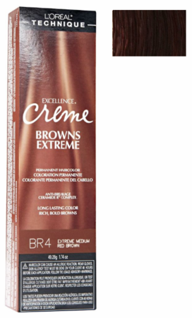 L'Oreal Excellence Creme Browns Extreme BR4 Extra Medium Red Brown DISC
