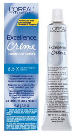 L'Oreal Excellence Creme Resistant Gray Permanent Hair Color 6.5X Light Mahogany Brown