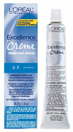 L'Oreal Excellence Creme Resistant Gray Permanent Hair Color 6X Light Brown