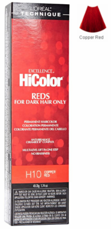 L'Oreal Excellence HiColor Reds For Dark Hair Only H10 Copper Red