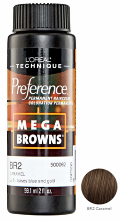 L'Oreal Professional Preference Mega Browns Permanent Hair Color BR2 Caramel DISC