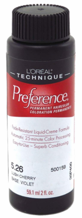 L'Oreal Professional Preference Permanent Hair Color 5.26 Lush Cherry