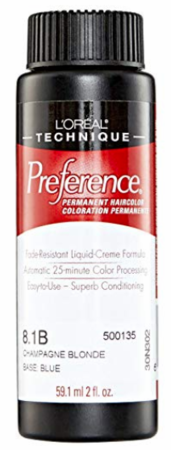 L'Oreal Professional Preference Permanent Hair Color 8.1B Champagne Blonde