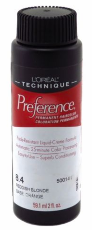 L'Oreal Professional Preference Permanent Hair Color 8.4 Reddish Blonde