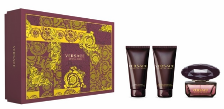 Versace Crystal Noir by Versace for Women 3 Piece Fragrance Gift Set 2018