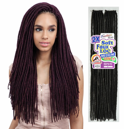 Freetress Braid 2X Medium Soft Faux Loc 20