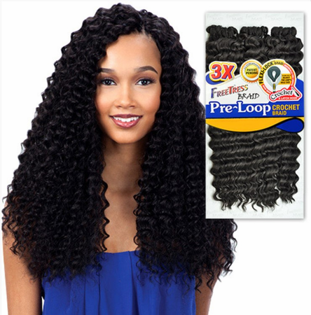 Freetress Braid 3X Pre Loop Crochet Deep Twist 16