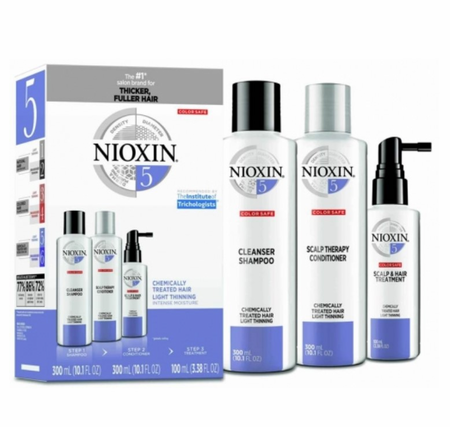 Nioxin Kit 5 for Chemically Treated Hair with Light Thinning