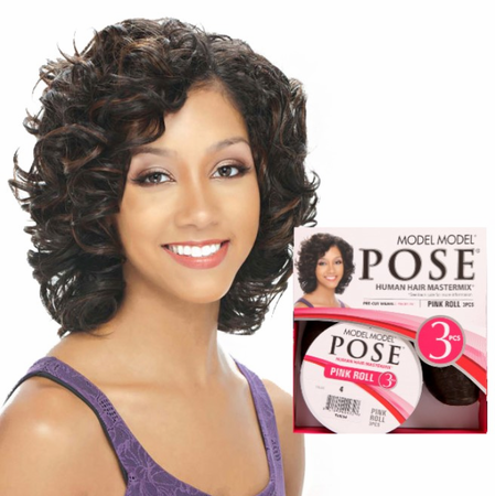Model Model Pose Pink Roll 3 Piece Human Hair