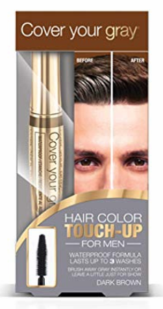 Cover Your Gray For Men Waterproof Brush in Touch Up Dark Brown 0.53 oz