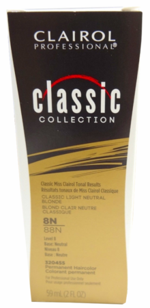 Clairol Classic Permanent Hair Color 2 oz 8N/88N Classic Light Neutral Blonde