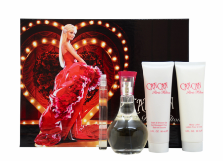 Can Can by Paris Hilton for Women 4 Piece Fragrance Gift Set 2018