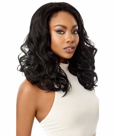 Outre Quick Weave Taraji Half Wig Synthetic
