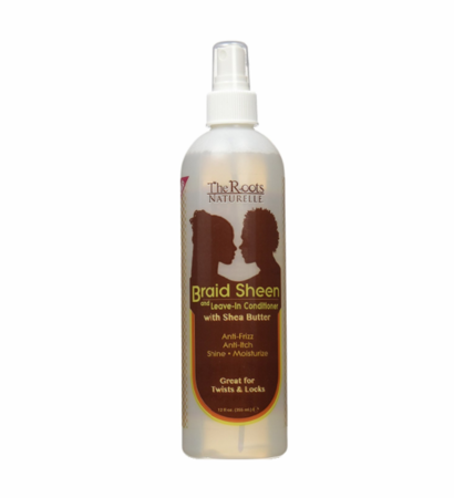 The Roots Naturelle Braid Sheen Spray and leave in conditioner 12 oz