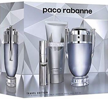 Invictus by Paco Rabanne for Men 3 Piece Fragrance Gift Set 2018