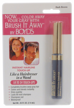 Boyd's Brush It Away Hair Color Touch-up Dark Brown 0.25