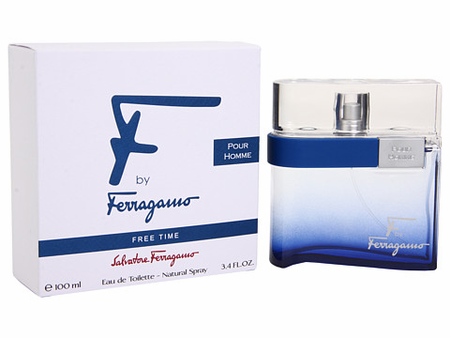 F by Ferragamo Free Time by Salvatore Ferragamo Fragrance for Men Eau de Toilette Spray 3.4 oz 2018