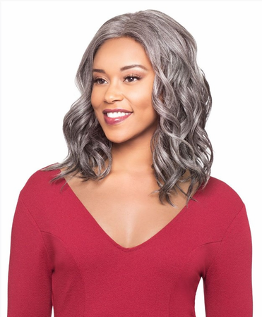 Foxy Silver Abree J Lace Wig Synthetic New 2019