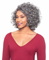Foxy Silver Marva J Lace Wig Human Hair