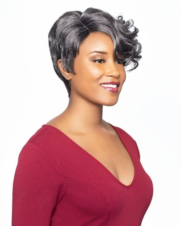 Foxy Silver Breanna J Lace Wig Synthetic